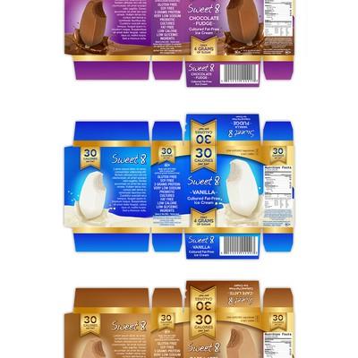 Eye-catching for premium ice cream box design