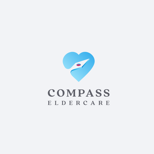 Compass design with the title 'Logo for Compass Eldercare'