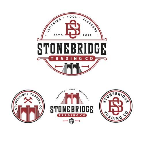 Vintage modern design with the title 'Stonebridge Trading Co'