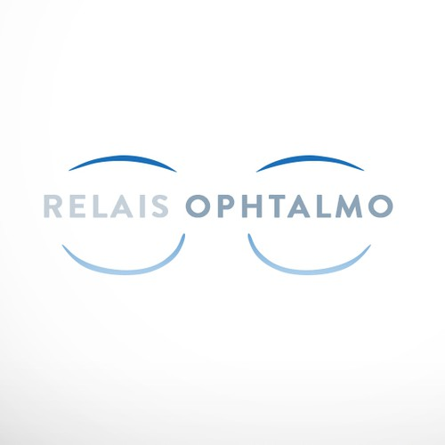 Eye care logo with the title 'Logo for ophthalmological center'