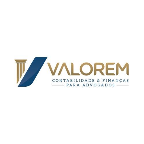 Advocate logo with the title 'Design de logo para empresa de Contabilidade para advogados'