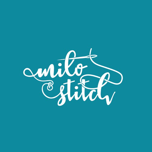 Sewing machine logo with the title 'milo & Stitch'