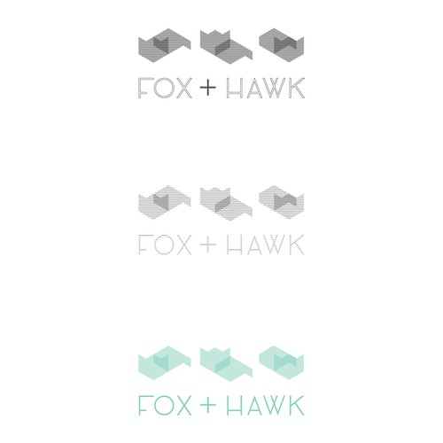 Workplace design with the title 'Sleek branding for Fox & Hawk, a workspace design firm'