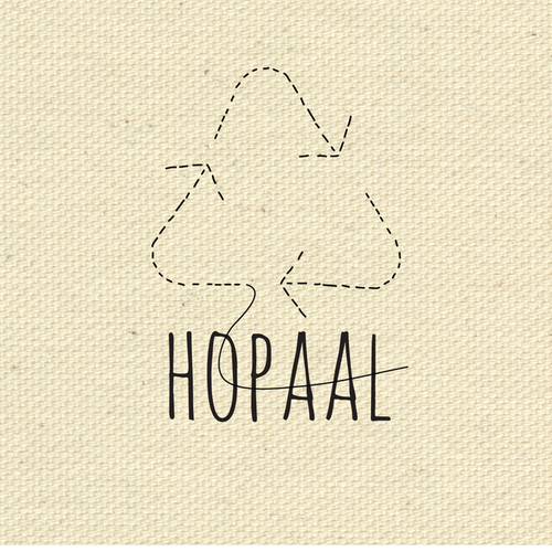 T-shirt brand with the title 'Brand Identity for Recycled Clothing Company'