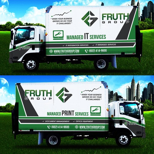Livery design with the title 'IT Compay Truck Wrap'