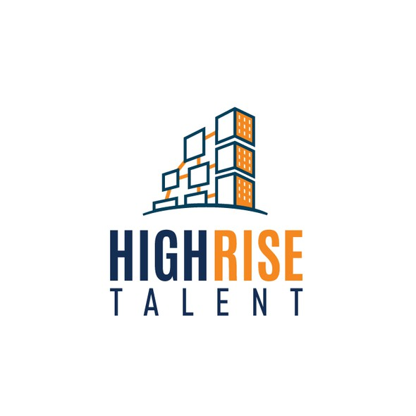 Rise logo with the title 'Clever Logo design for High Rise Talent Consulting'