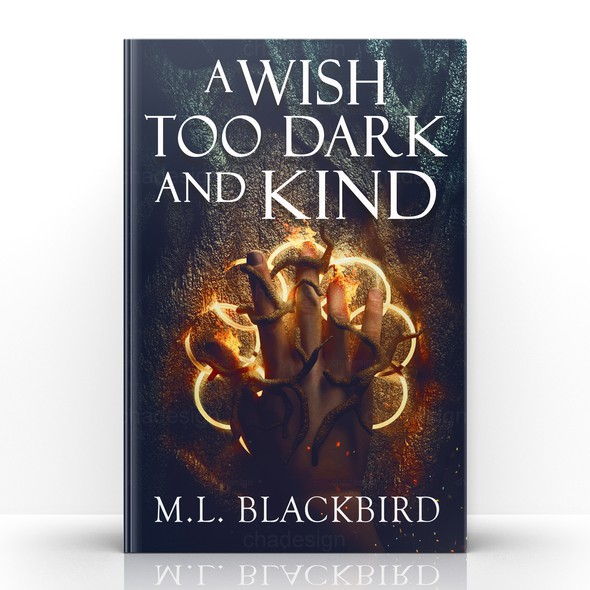 Magic design with the title 'Dark urban fantasy novel'