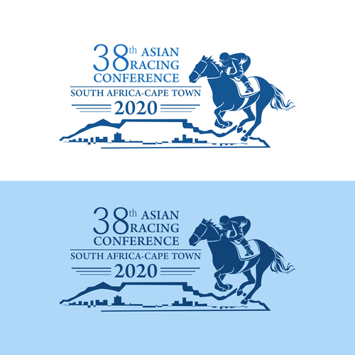 Horse racing logo with the title '38 th Asian Racing Conference'
