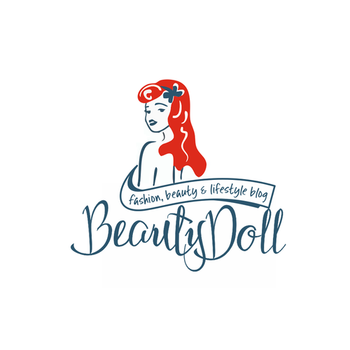 Doll logo with the title 'Logo concept for a fashion, beauty, lifestyle blog'