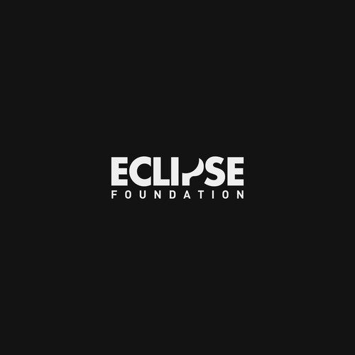 Eclipse design with the title 'Smart logo for a non-profit foundation'