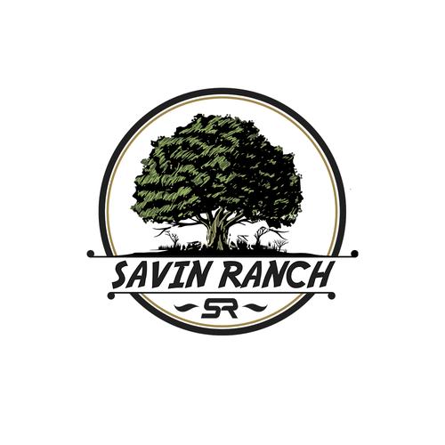 Oak leaf logo with the title 'Logo Savin Ranch'