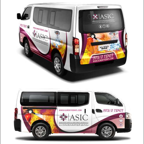 Wrap design with the title 'Wraps car ASIC'