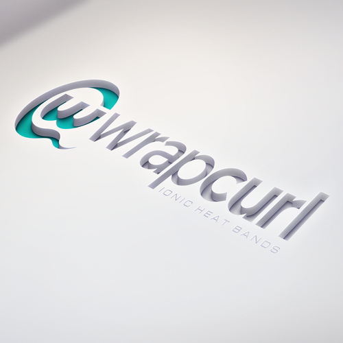 Hair salon design with the title 'Logo for WrapCurl'