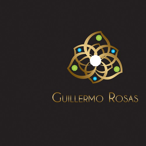 Jewel logo with the title 'Guillermo Rosas'