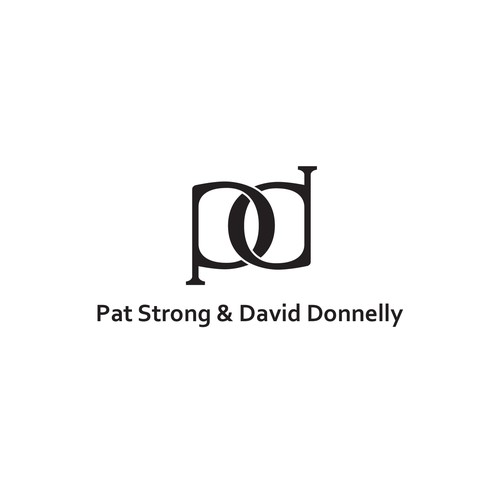 Serif design with the title 'P&D Monogram Logo for an elder couple.'