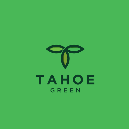 Cannabis leaf logo with the title 'Tahoe Green'