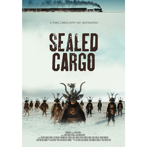 Film design with the title 'Movie poster for Sealed Cargo'