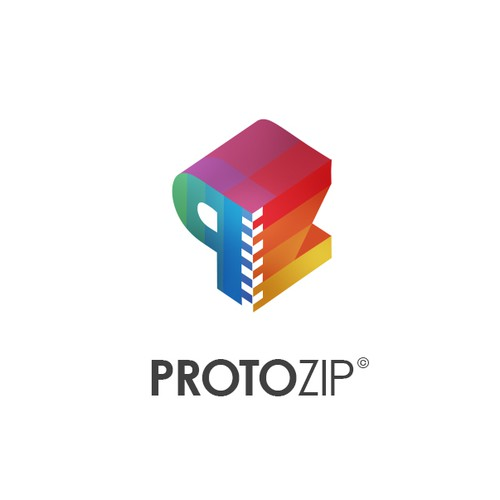 Zip design with the title 'Protozip 3D Printer'