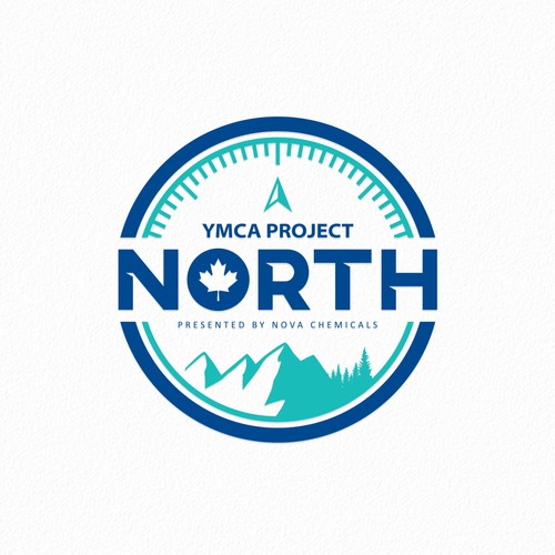 North design with the title 'YCMA Project NORTH Logo'