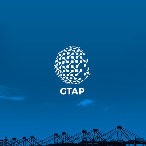 Container design with the title 'New Logo for New App GTAP'