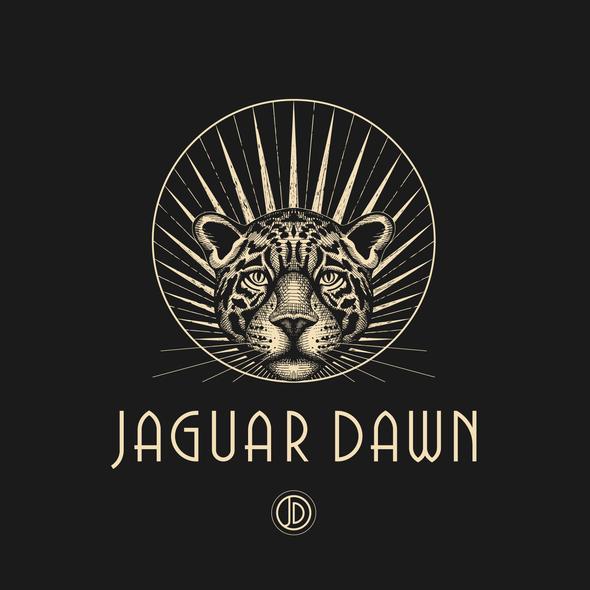 Mystical design with the title 'Logo design for Jaguar Dawn - dark glam accessories company.'