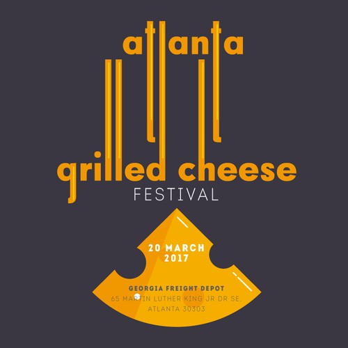 Georgia logo with the title 'Logo for Atlanta Grilled Cheese Festival'