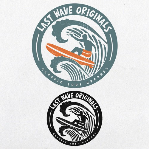 Surfer logo with the title 'Surf Logo'