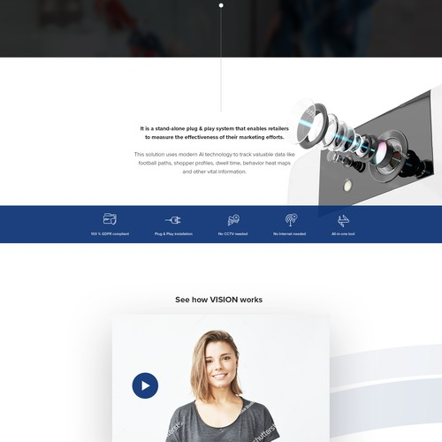 Solid design with the title 'Vision. Web presentation'