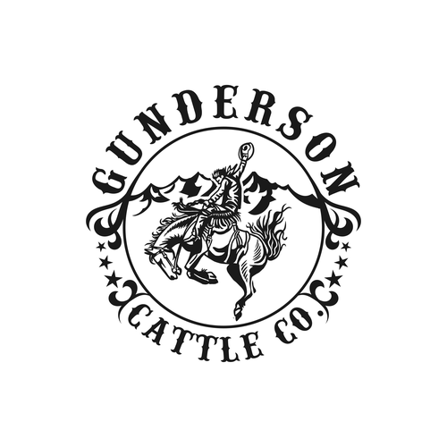 Rodeo design with the title 'Gunderson Cattle Co.'