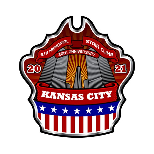Firefighter logo with the title '9/11 Memorial Stair Climb 2021'