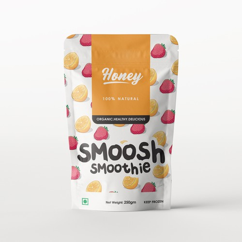 Smoothie design with the title 'Pouch design for a  smoothie '