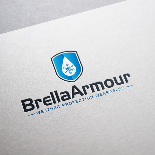 Weather logo with the title 'Brella Armour'