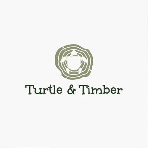 Timber logo with the title 'Sustainable Toy brand Turtle & Timber seeks playful, fun but professional logo design'