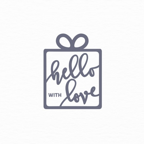 Subscription box logo with the title 'Gift subscription box logo'