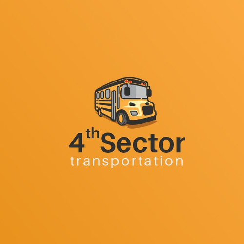 Transportation design with the title '4th sector Transportation - Logo'