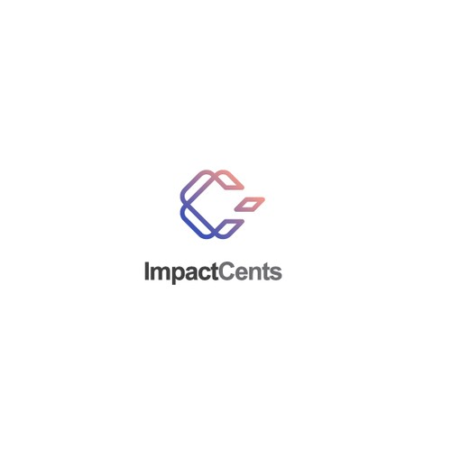 App logo with the title 'Creative and simple logo for Impact Cents'