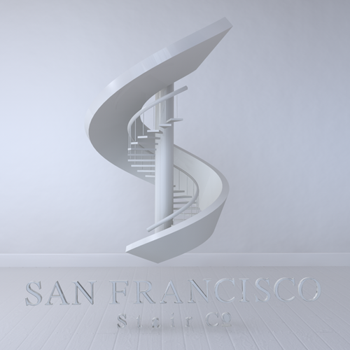 Stair design with the title 'Staircase Logo - Round 2'