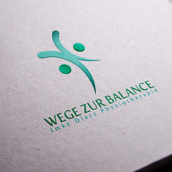 Balanced design with the title 'Logo design for a physiotherapy practice in Germany'