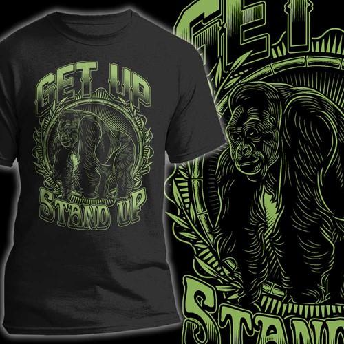 Gorilla design with the title 'Gorilla'