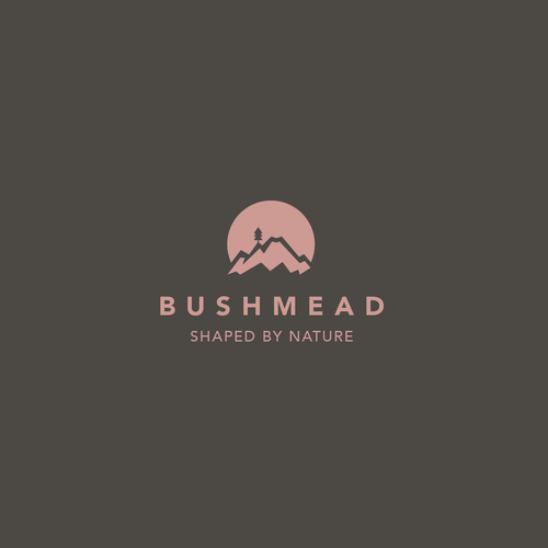 Sunset design with the title 'Logodesign for Bushmead'