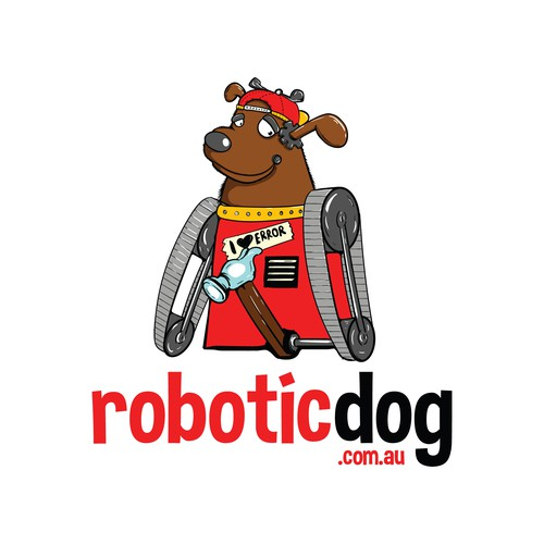 Robotics logo with the title 'Robotic Dog Mascot'