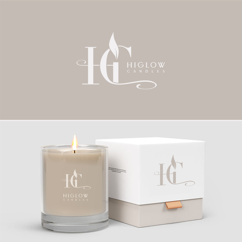 Vector logo with the title 'Higlow candles'