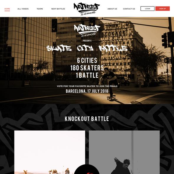 Art website with the title 'Website design for an Art website'