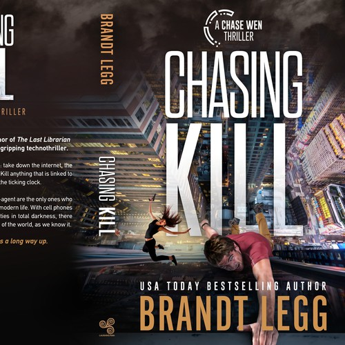 Suspense book cover with the title 'Chasing Kill'