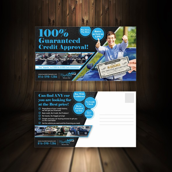 Promotional design with the title 'Car Dealership needs a Powerful Sale Flyer'