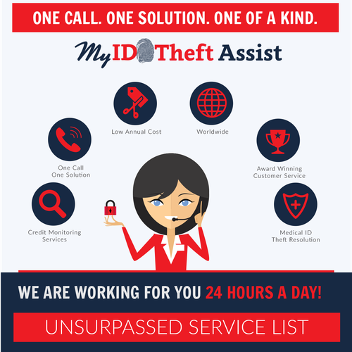 Protection design with the title 'Protect Your Identity With ID Theft Assist'