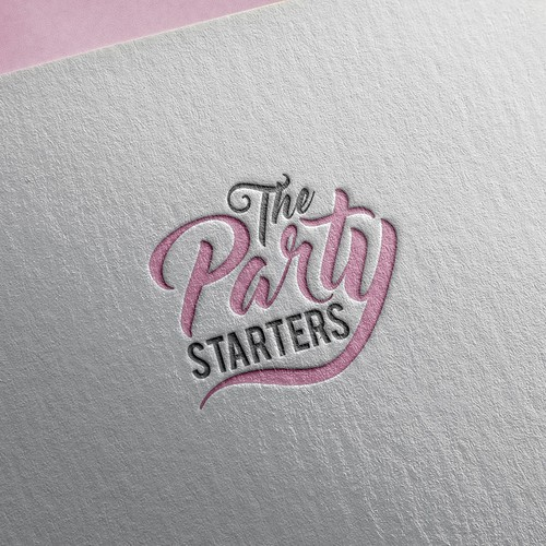 Birthday design with the title 'Logo for The Party Starters'