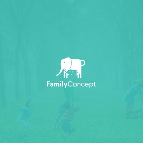 Soft design with the title 'Logo design for Family Concept'