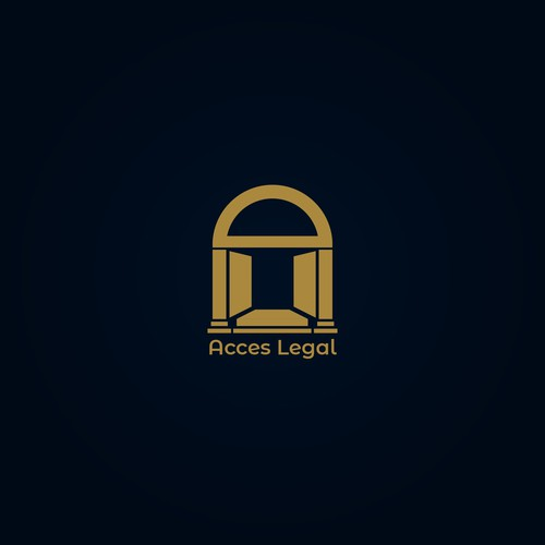 Pillar design with the title 'Legal logo'