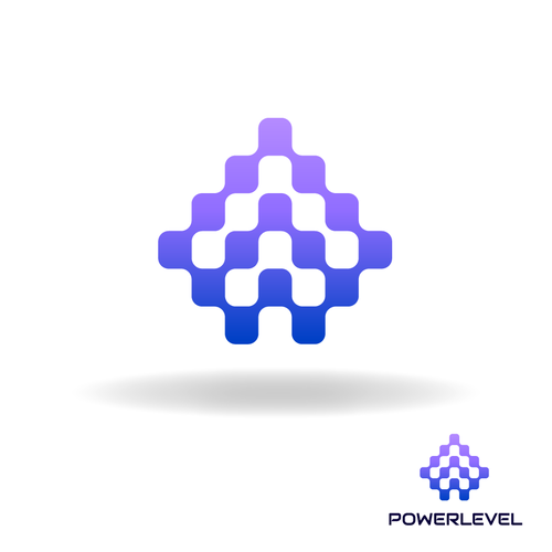 Upward logo with the title 'Arrow up Logo Design for PowerLevel'